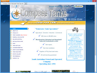 Compass Tanks website