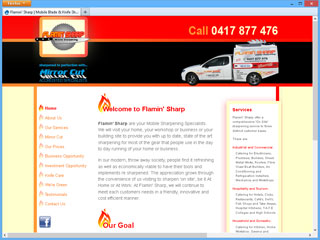Flamin' Sharp website