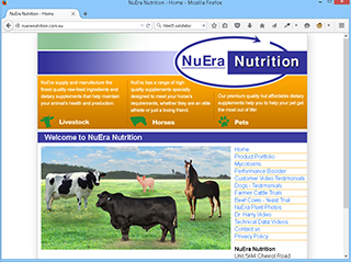 NuEra Nutrition website