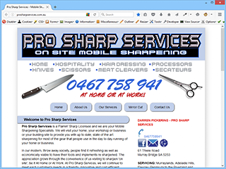 Pro Sharp Services Mobile Sharpening Murray Bridge SA - Site Image